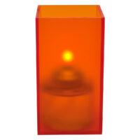 Vierkante Acrylhouder Klein, Oranje