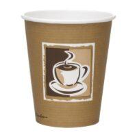 Hot Cup Enkelwandig Met Koffiepatroon